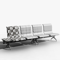 obj airport seat modeled