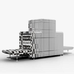 3d airport x-ray machine model