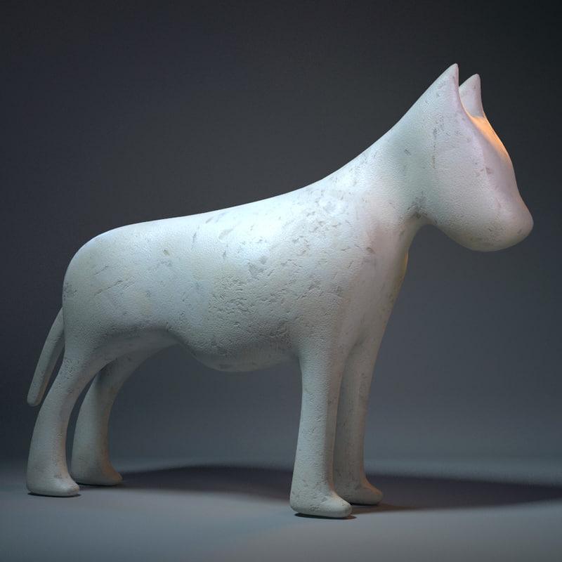 dog sculpture 3ds