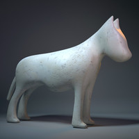 dog sculpture 3ds