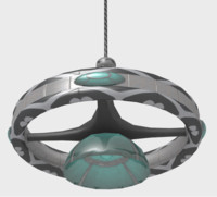 futuristic chandelier 3ds