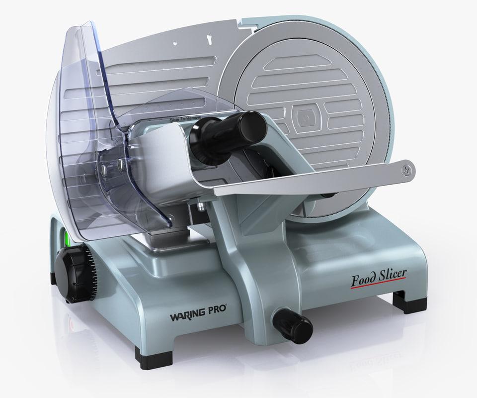 waringpro food slicer 3d model