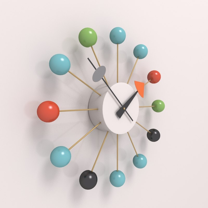 vitra ball clock 3d model