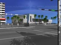 3d model biscayne streets
