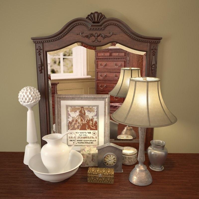 3d decorative classic mirror table lamp