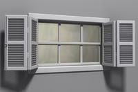 window glass shutters 3d model