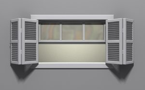 window glass shutters 3d model