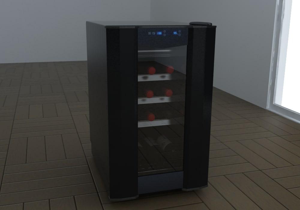 3d model wine cooler