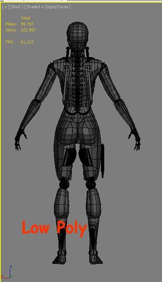 3d model droid women