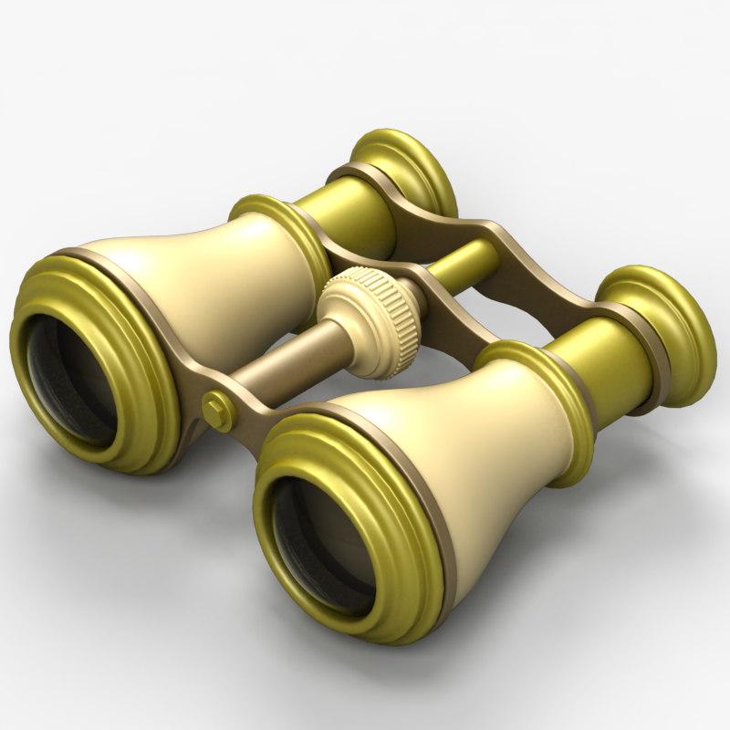 old binocular 3d max