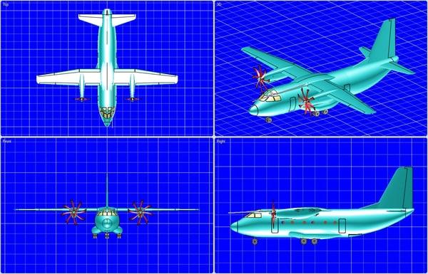 alenia c-27j spartan aircraft 3d model