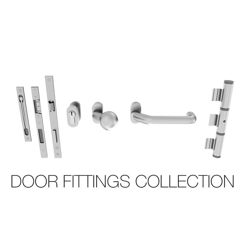 3dsmax door fittings