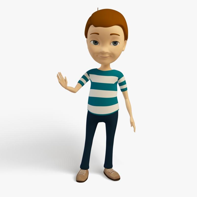 max cartoon character kid