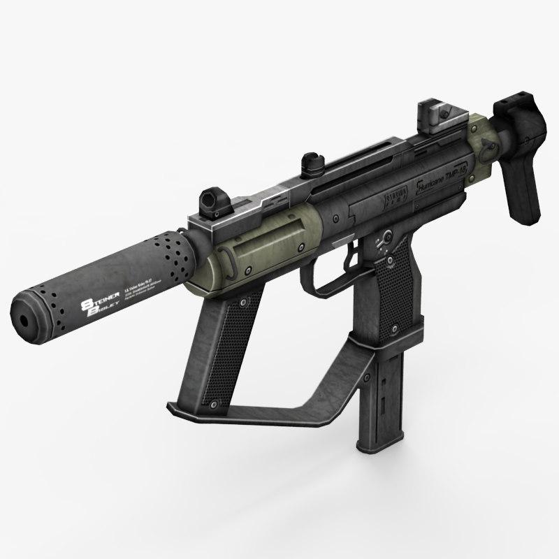 machine gun 3d model