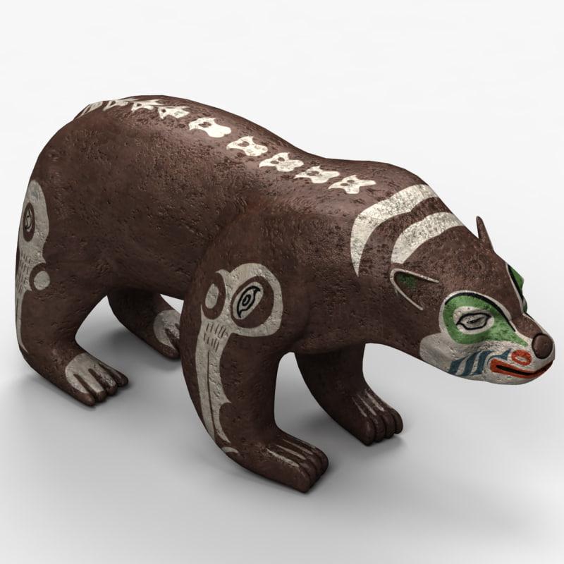indian bear 3d max