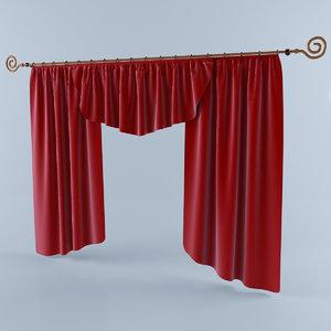 3dsmax curtain silk