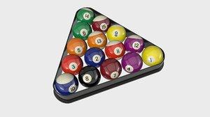 billiard balls 3d c4d