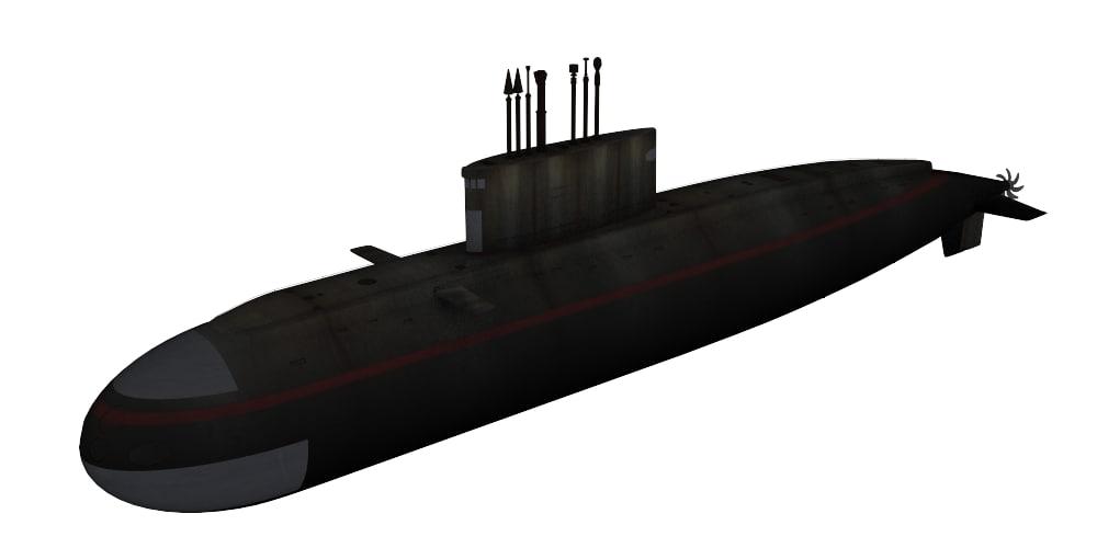 submarine project 636 varshavyanka 3d model