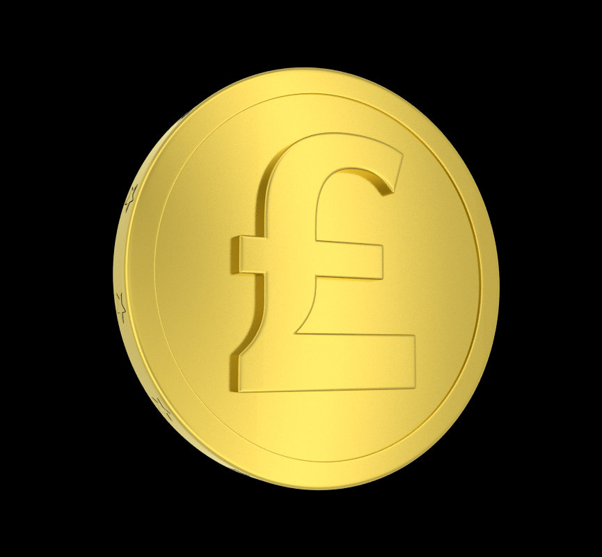 obj metallic coin pound