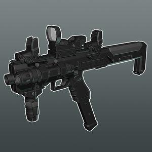 glock pistol conversion 3d model