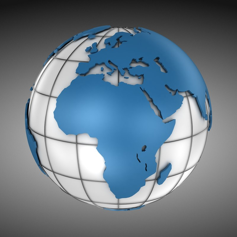 3d model blue earth