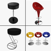 bar seat - 4 3d model