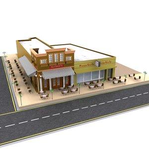 3d max fast food restaurant