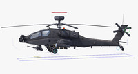 3d model ah64e apache longbow helicopter