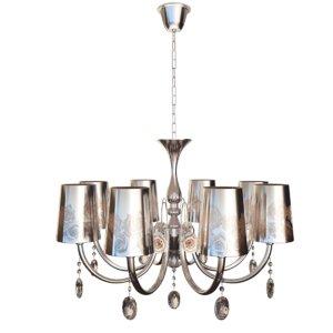 3d model art deco chandelier