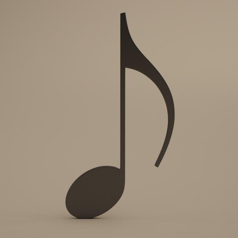 musical symbols modeled 3d model