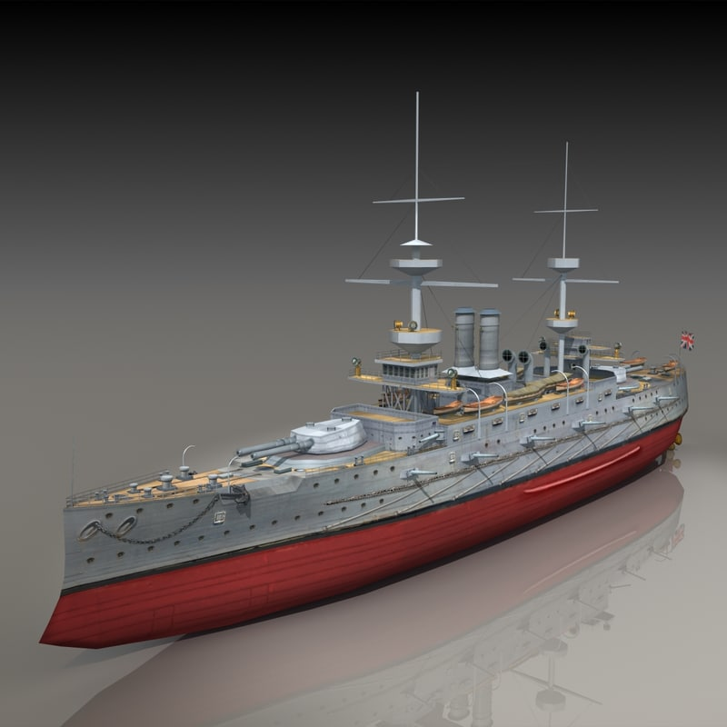 3d model hms majestic 1895 battleship