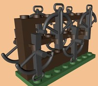 3ds max lego crossbow rack