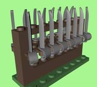 3d 3ds lego rack cutlass
