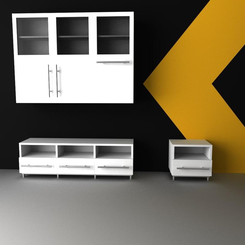 modern living room 3d 3ds