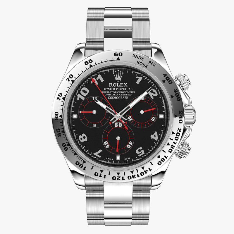 3d model rolex cosmograph daytona watches