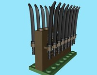 3d model of lego rack sameria sword