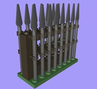 3d lego rack spears model