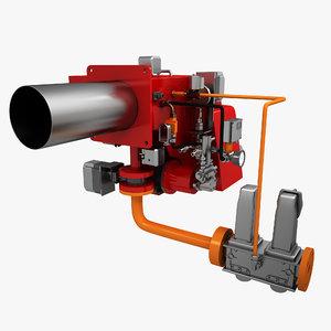 3d model gas burner
