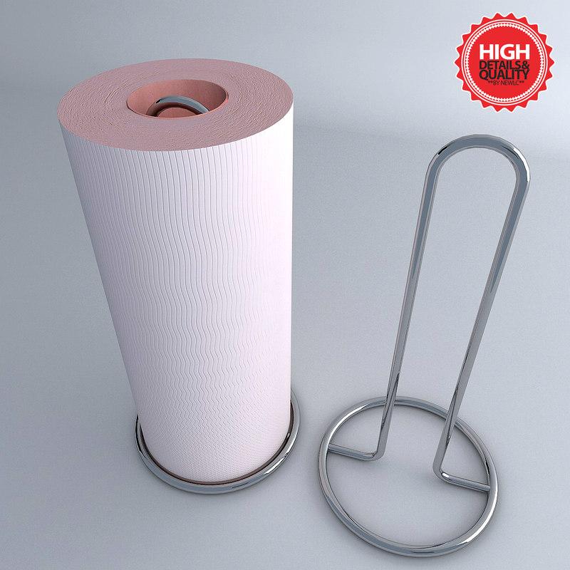 3d model of paper towel