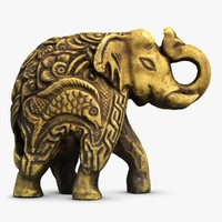 elephant sculpture 3d max
