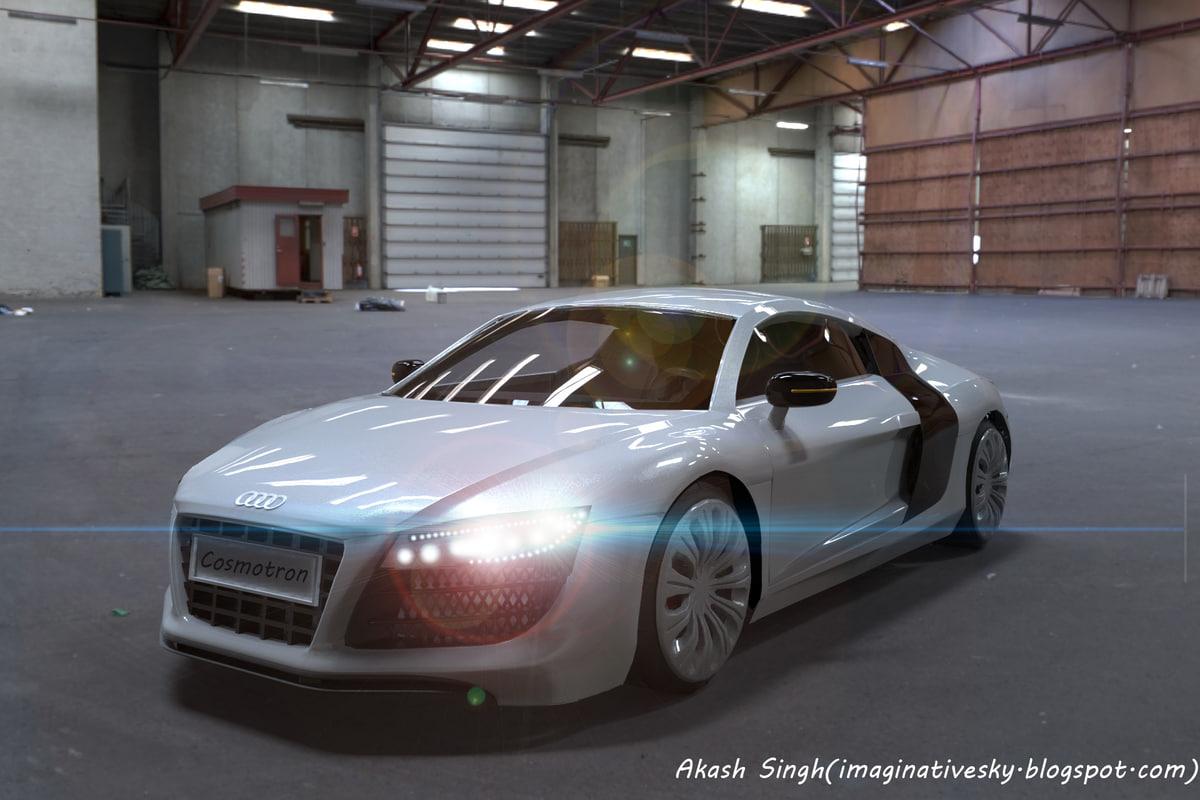maya white car