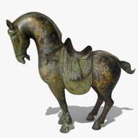 3d horse statuettes