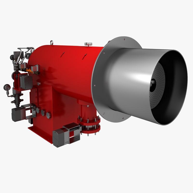 gas burner 3d max