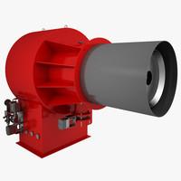3d gas burner model
