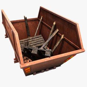 skip dumpster container 3d model