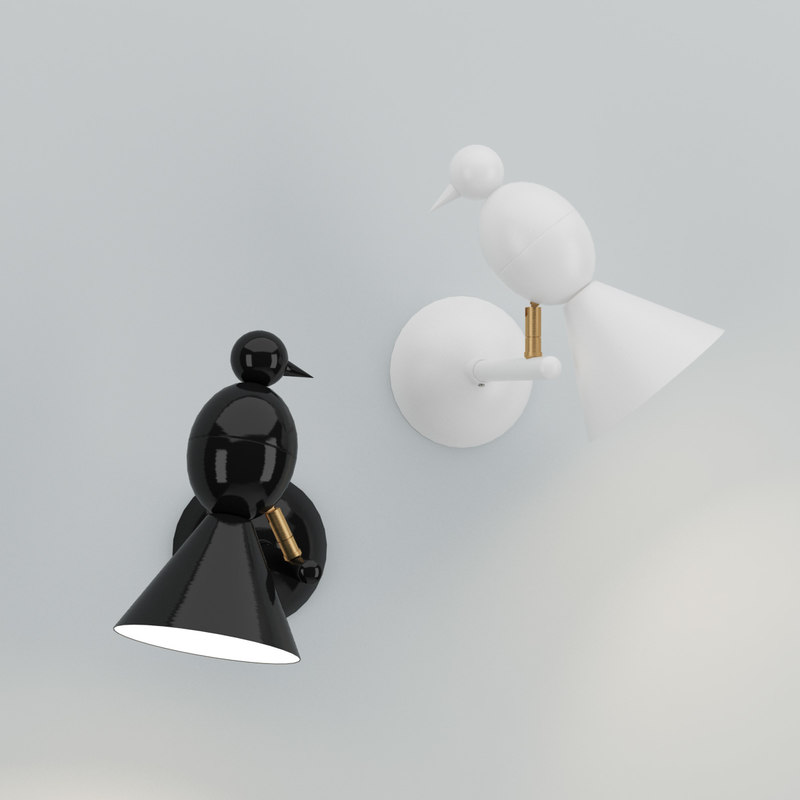 3d model areti alouette wall lamp
