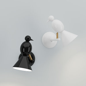 3d model areti alouette wall lamp