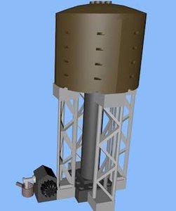 lego watertower xml 3d 3ds