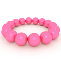 bracelet pink pearls 3ds free