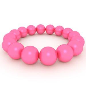 bracelet pink pearls 3ds free
